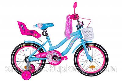"""Велосипед 16"""" Formula FLOWER PREMIUM 2021 (блакитний)"""