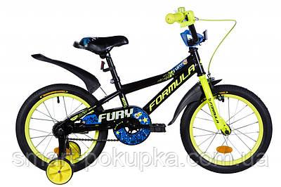 "Велосипед 16"" Formula FURY 2021 (оранжево-чорний з салатовим)"