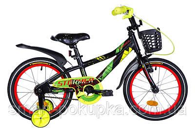 "Велосипед 16"" Formula STORMER 2021 (чорно-червоний з жовтим)"