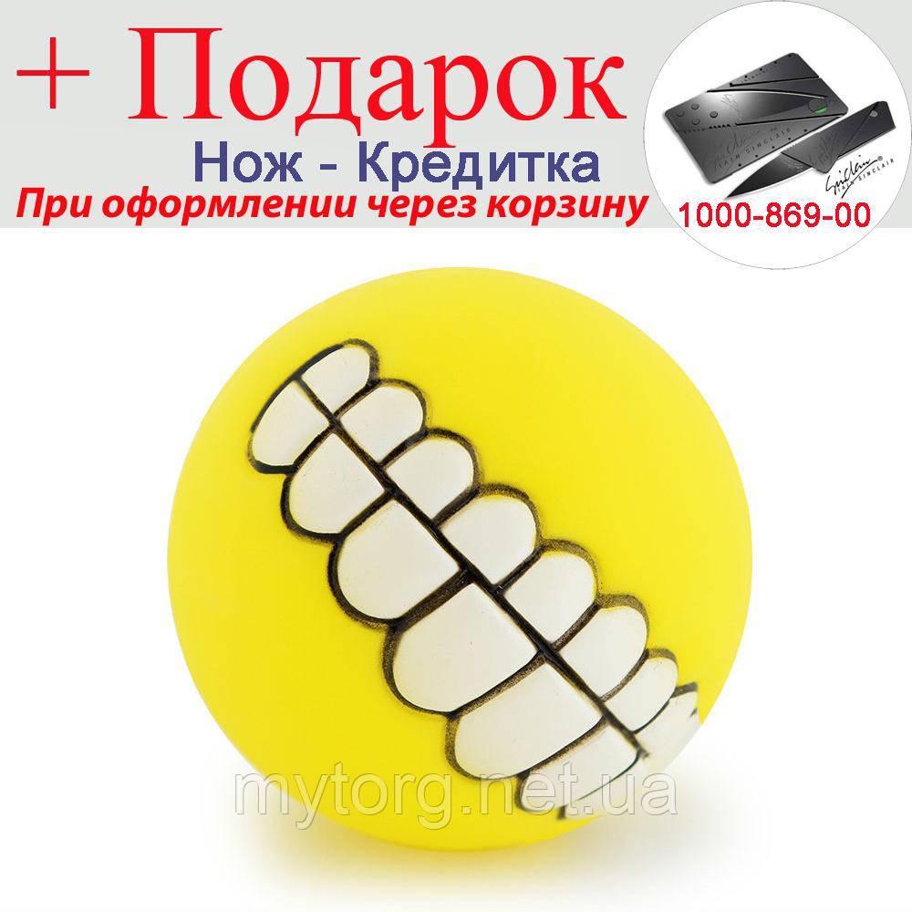 М'ячик для собак Посмішка Жовтий