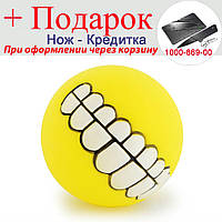 М'ячик для собак Посмішка Жовтий, фото 1