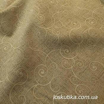 62006 Ткань серо-зеленая с витым рисунком. Ткани для кукол, пэчворка, трапунто, для художественной стежки.