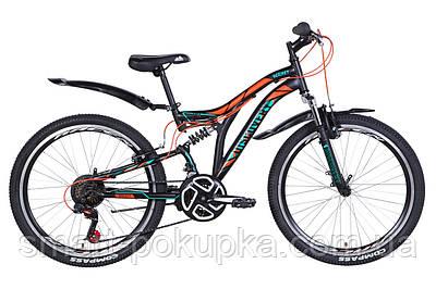 """Велосипед 24"""" Discovery ROCKET 2021 (чорно-помаранчевий з бірюзовим (м))"""