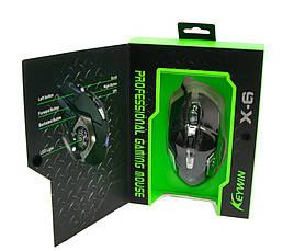 Ігрова мишка GAMING MOUSE X6 / Комп'ютерна ігрова мишка з LED підсвічуванням, фото 3