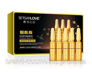 Сыворотка для лица SERSANLOVE Nicotinamide Ampoule Essence с ниацинамидом 7х2 мл