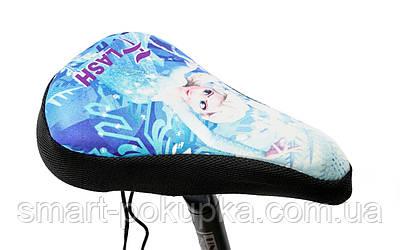 Накладка на детское седло FROZEN с гелевым наполнителем 200*150mm черно-голубая (черно-голубой)