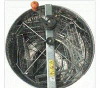 Медогонка 4 рам.повністю н/ж(430) поворотна ремінна передача Крейда. на підставці