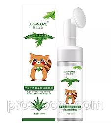 Пенка-мусс для умывания SERSANLOVE Aloe Amino Acid Cleanser Mousse с экстрактом алое 150 мл