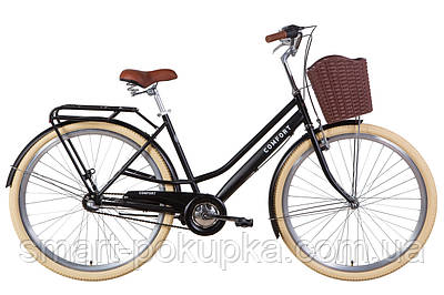 "Велосипед 28"" Dorozhnik COMFORT FEMALE планет. 2021 (чорний (м))"
