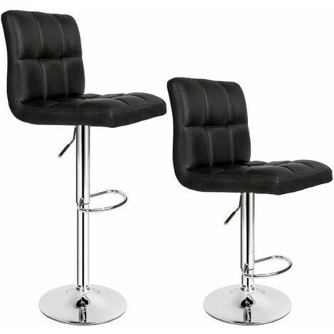Барний стілець HOKER BONRO В 628 з Підставкою для ніг(120 кг навантаження) Чорний