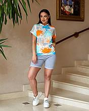 Молодежный костюм летний Футболка и шорты Размер 48 50 52 54 В наличии 3 цвета