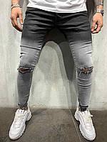 Мужские джинсы светло серые с переходом Турция
