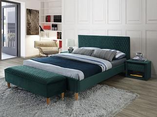 Кровать AZURRO Velvet Signal 140x200, Зелёный