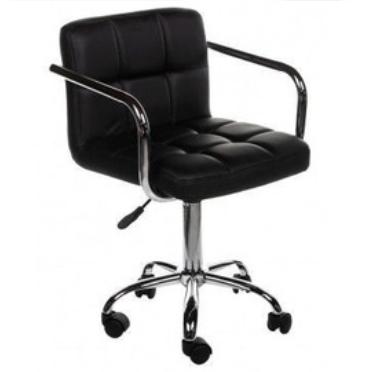 Стул-кресло для мастера ARM MASTER  барное на колёсах   Черное ПОЛЬША