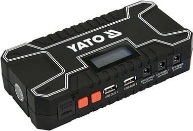 Автономное пусковое устройство 12000 мАч YATO YT-83082 с LCD дисплеем