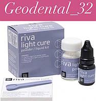 Рива ЛЦ (Riva Light Cure, SDI) набор,стеклоиономерный пломбировочный материал,цемент светового отверждения А2