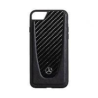 Чехол Mercedes-Benz Carbon для Apple Iphone 8G Цвет Чёрный
