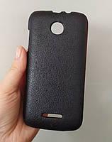 Чехол кожаный для Lenovo A390, Черный