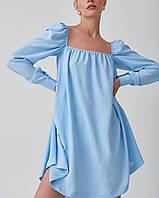 """Сукня жіноча молодіжна з квадратним вирізом, раз.S-M (5кол) """"SELESTA"""" купити недорого від прямого постачальник"""
