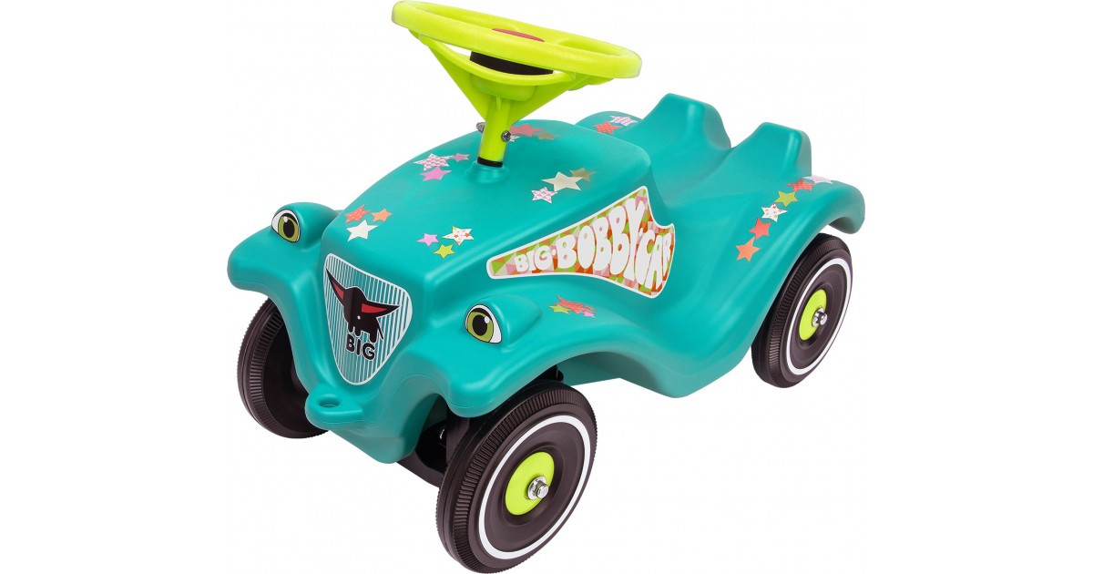 Машинка каталка BIG Звезда с защитными насадками зеленая (56108)