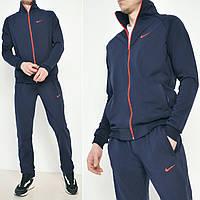 Темно синий мужской спортивный костюм, демисезонный весна/осень / Трикотаж - дайвинг / Размеры: 46-52