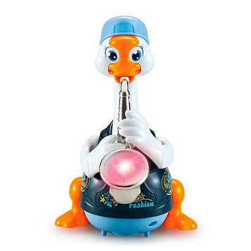Интерактивная музыкальная игрушка Hola Toys Гусь-саксофонист, синий (6111-blue)
