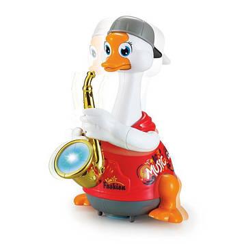 Интерактивная музыкальная игрушка Hola Toys Гусь-саксофонист, красный (6111-red)
