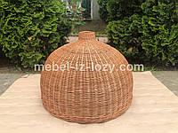Плетена люстра із лози (абажур, світильник), фото 1