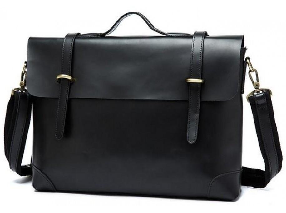 Чоловічий шкіряний портфель Vintage 14646 шкіряний Чорний