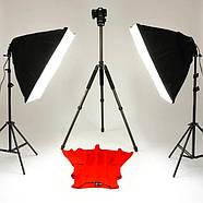 1.6*3м Виниловый фон с люверсами и карманом белый МАТОВЫЙ Фото фон Super Matt VINIL BD-PRO White, фото 6