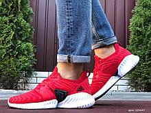Мужские кроссовки Adidas Alphabounce Instinct,текстиль, красные