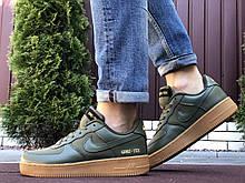 Кроссовки демисезонные,Nike Air Force Gore-Tex, зеленые