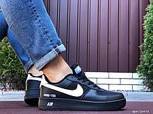 Кроссовки демисезонные,Nike Air Force Gore-Tex,черные с белым