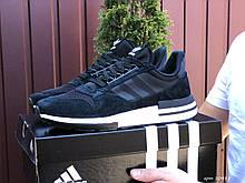 Мужские кроссовки Adidas ZX 500 Rm, черно белые