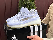 Летние кроссовки Adidas x Yeezy Boost 350 v2 (Изи буст),белые