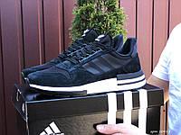 Чоловічі кросівки Adidas ZX 500 Rm, чорно білі, фото 1