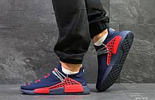 Кроссовки Мужские Adidas NMD Human Race,сетка,темно синие с красным