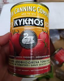 Томаты консервированные 400 г- Kyknos