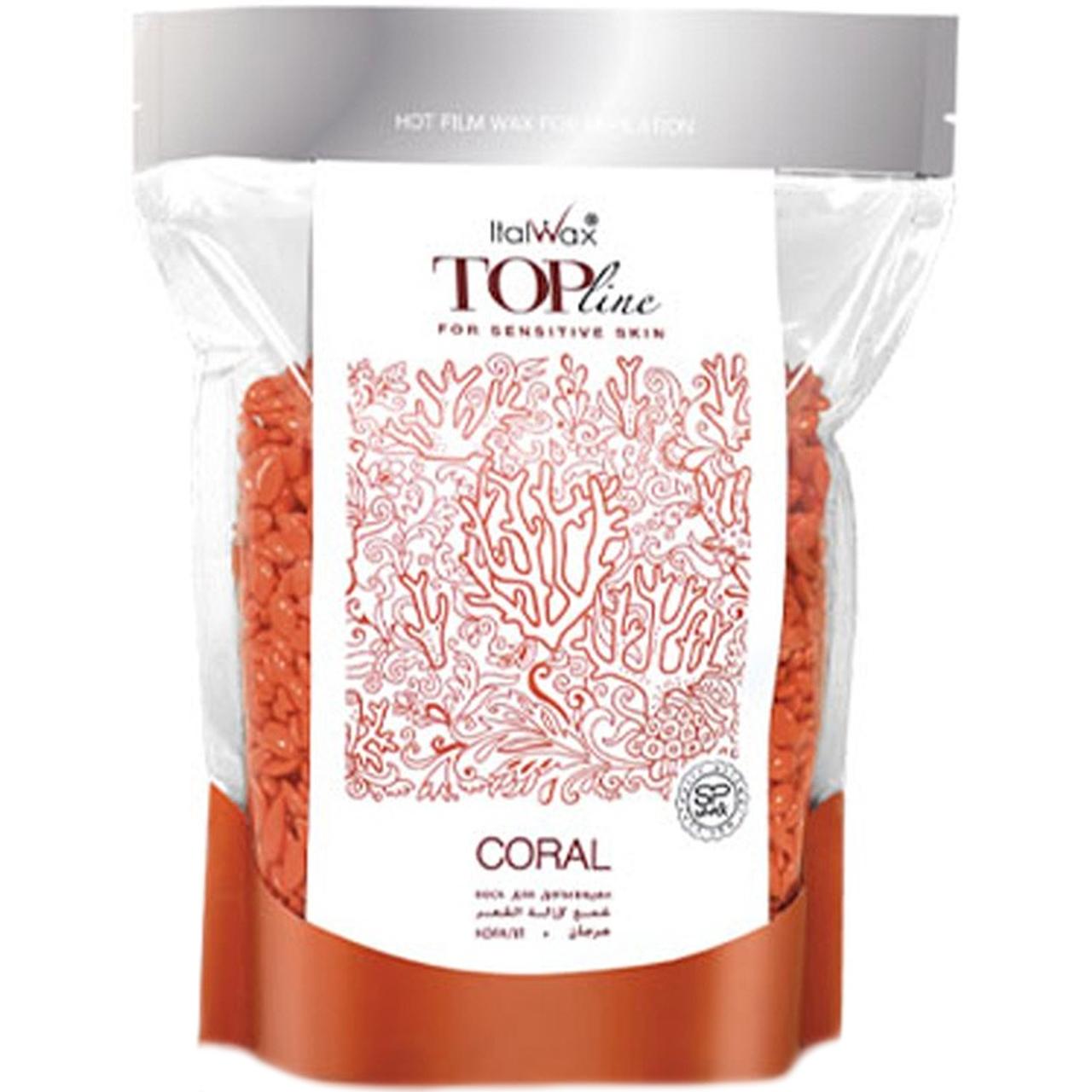 Гіпоалергенний віск гранулах Ital Wax Top Formula Coral, 750 г для чутливої шкіри