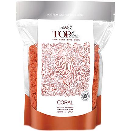 Гіпоалергенний віск гранулах Ital Wax Top Formula Coral, 750 г для чутливої шкіри, фото 2