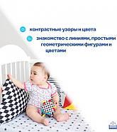 """Підвіска-бортик для ліжечка """"Хмарка B&W"""" МС 110512-05, фото 3"""
