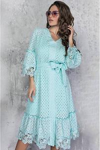 Платье из прошвы Фламинго