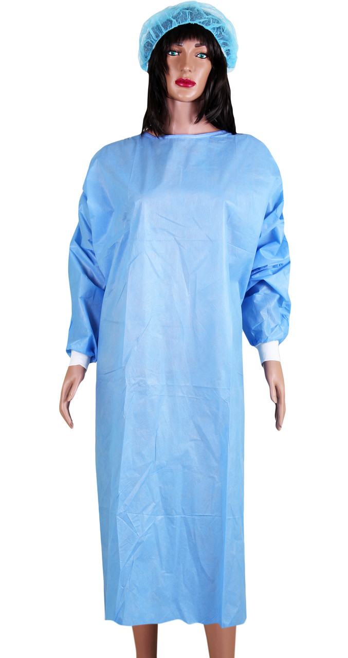 Халат стерильный хирургический спанбонд, 140см (L/XL) одноразовый