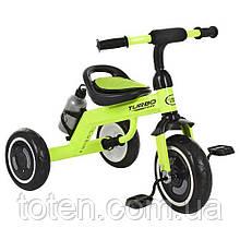 Триколісний велосипед Гномик Turbo Trike M 3648-5, EVA колеса, салатовий