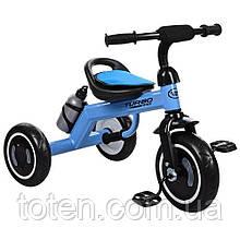 Триколісний велосипед Гномик Turbo Trike M 3648-4, EVA колеса, блакитний