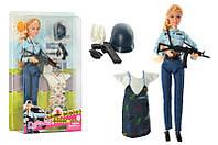 Лялька з одягом DEFA 8388-BF шарнірна, 29 см, поліція, плаття, 2 види, в коробц, 21,5-31,5-5 см