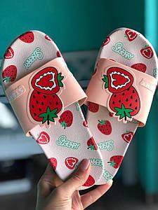 Сланці шльопанці тапочки з полуницею Полуниця Strawberry