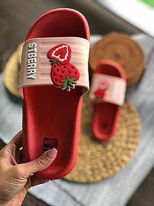 Сланці шльопанці тапочки з полуницею шльопанці REFRESH Strawberry