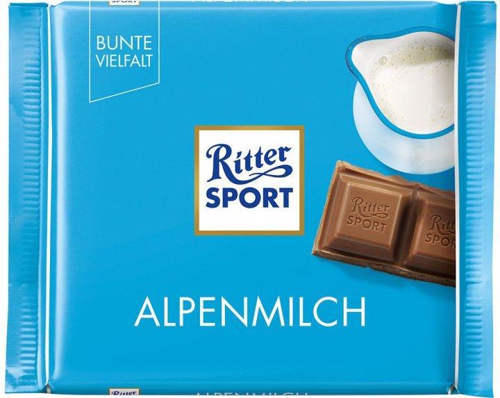 Шоколад Ritter Sport альпійське молоко 30% 100г