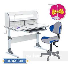 Комплект для школьников растущая парта Cubby Nerine Grey + стул для школьника FunDesk LST3 Blue-Grey